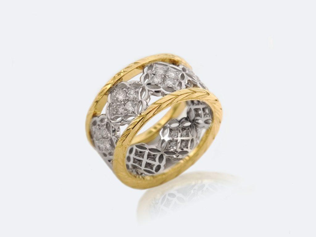 フィレンツェ透かし彫りのダイヤリング